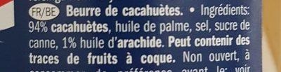 Beurre de cacahuète - Inhaltsstoffe