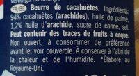 Crema de cacahuete - Ingrédients - fr