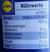 Crema de cacahuete - Nährwertangaben - de