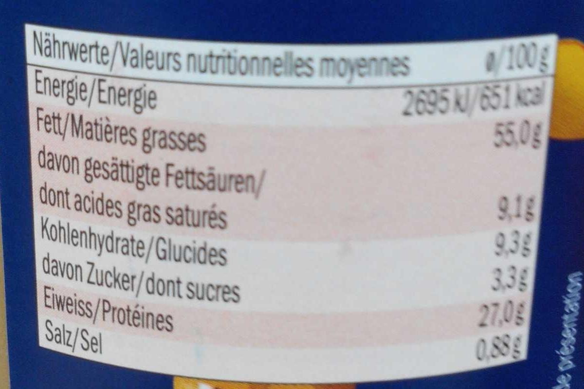 Beurre de cacahuète - Voedingswaarden