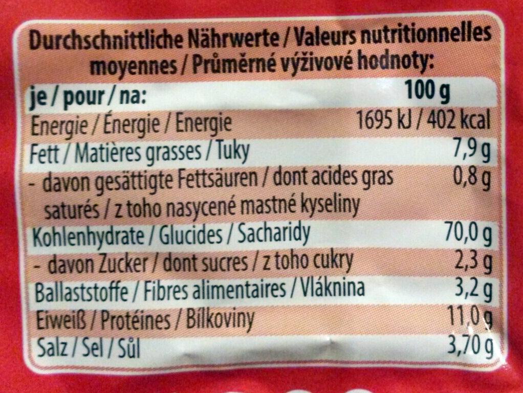 Brezeln Salz - Nutrition facts
