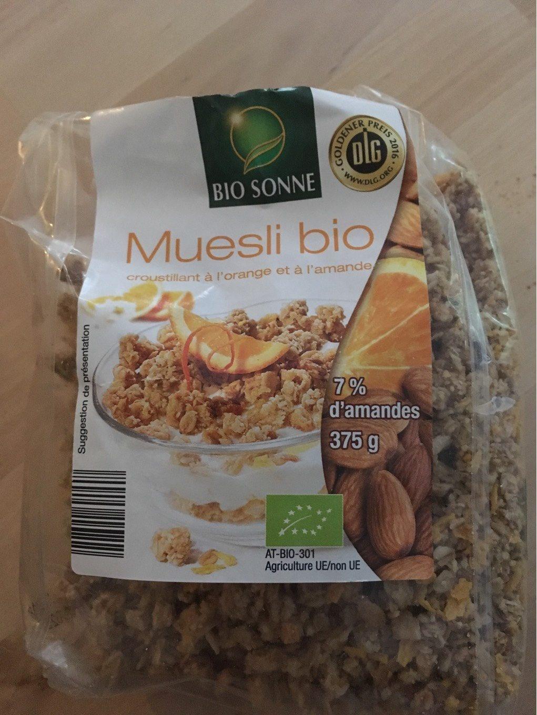 Muesli bio orange et amande - Product - fr