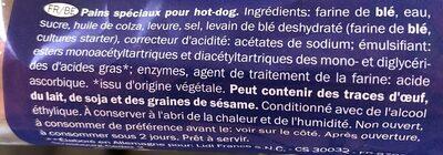 Hot Dog Rolls - Ingrédients - fr