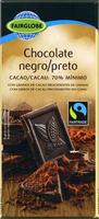Tableta de chocolate negro 70% cacao - Producto