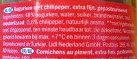 Pepinillos picantes chili - Ingrediënten - nl