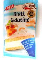 Blattgelatine weiss - Produkt