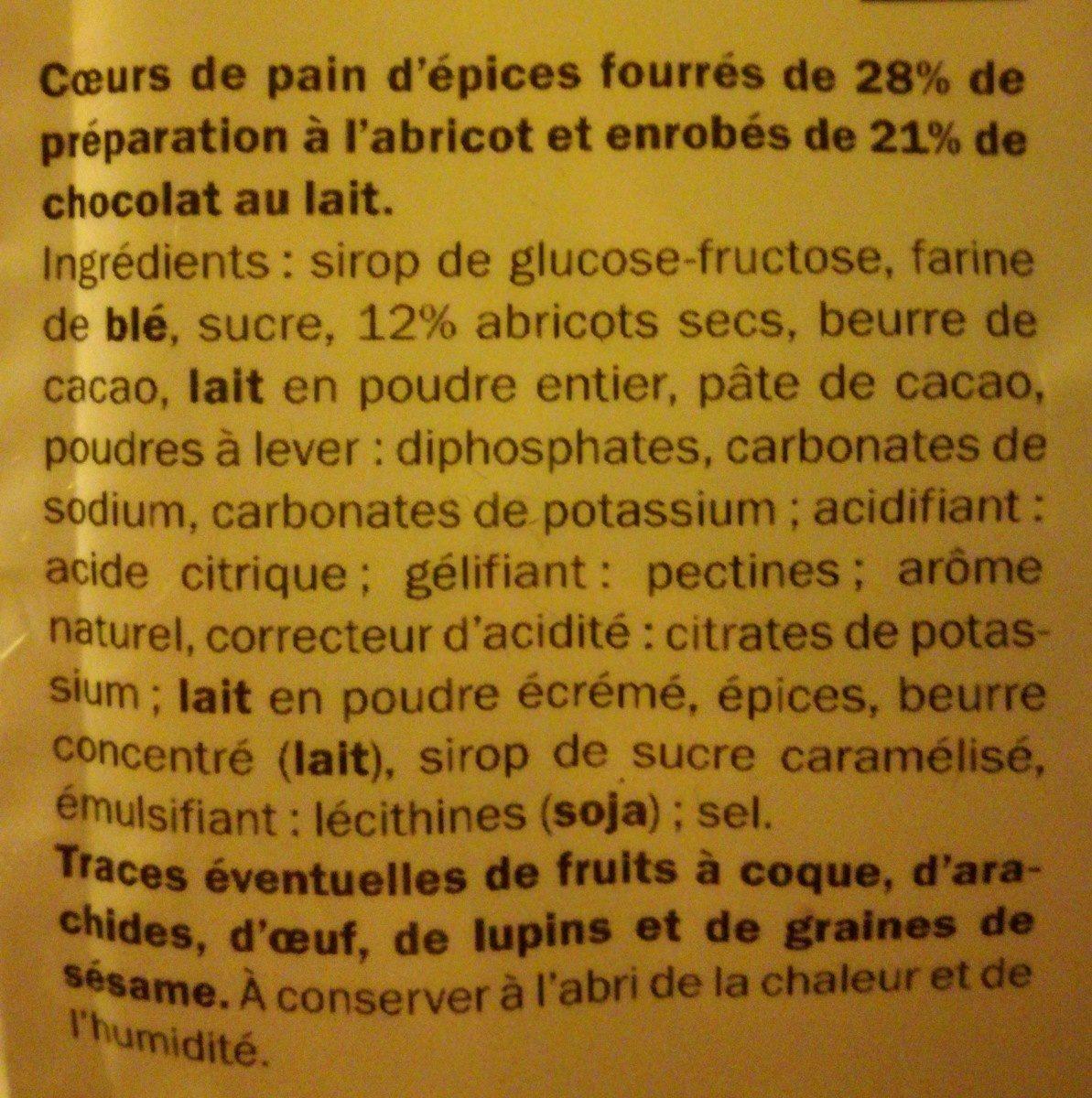 Coeur de pain d'épices - Ingrédients