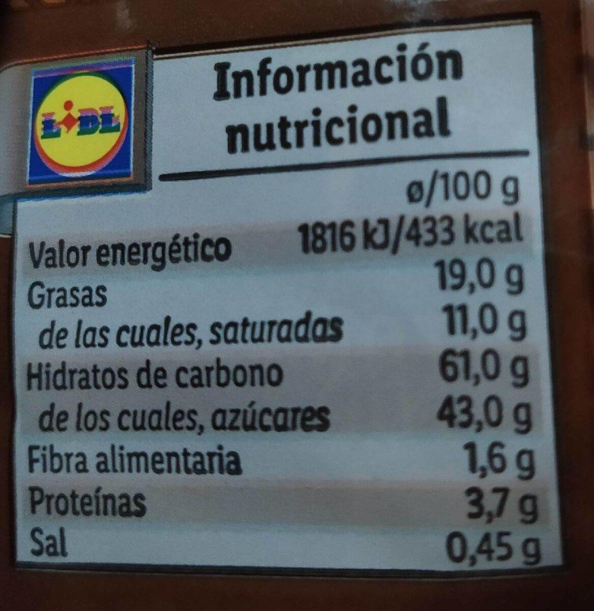 Bracitos sabor trufa o fresa - Nutrition facts - es