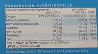 Bâtonnets de colin d'Alaska - Informations nutritionnelles - fr