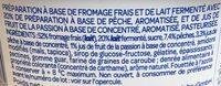 Mousse Fondante sur lit de fruits pêche et jus de fruit de la passion - Ingrédients - fr