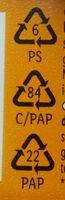 Mousse Fondante sur lit de fruits pêche et jus de fruit de la passion - Instruction de recyclage et/ou informations d'emballage - fr