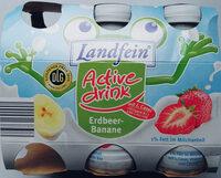 Milchmischerzeugnis mit 1% Fett im Milchanteil mit Erdbeermark und Bananensaft aus Bananensaftkonzentrat mit Vitamin B12 und Calcium. - Product - de