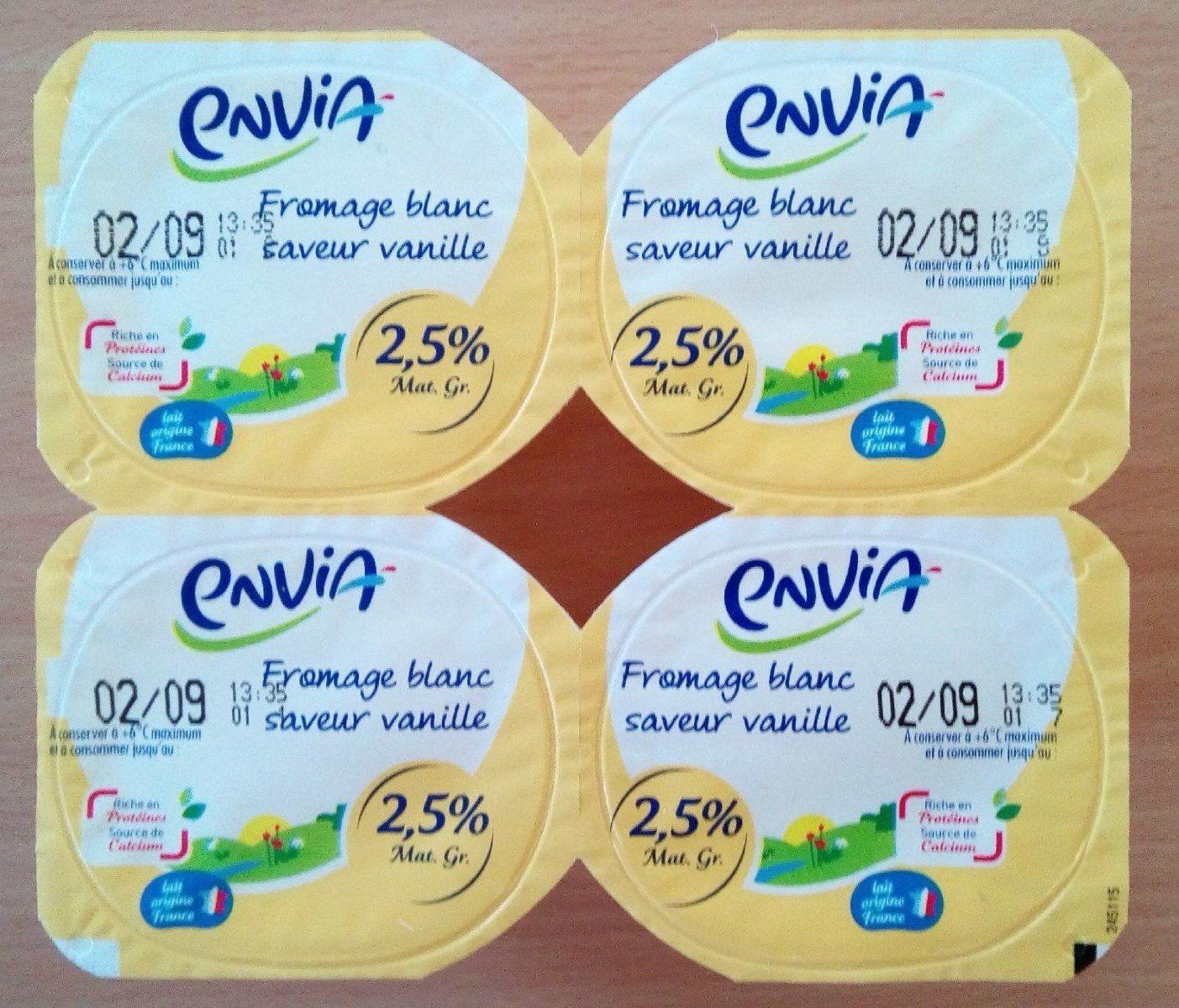 Fromage blanc saveur vanille - Produit
