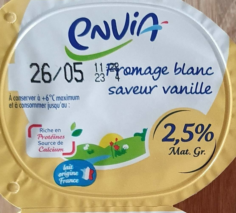 Fromage blanc vanille 2,5% - Produit - fr