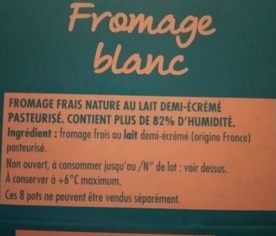 Fromage blanc - Ingredients - fr