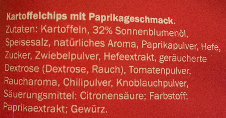 Paprika Chips - Zutaten - de