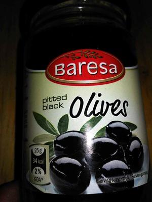 Pitted black olives - Produit - en