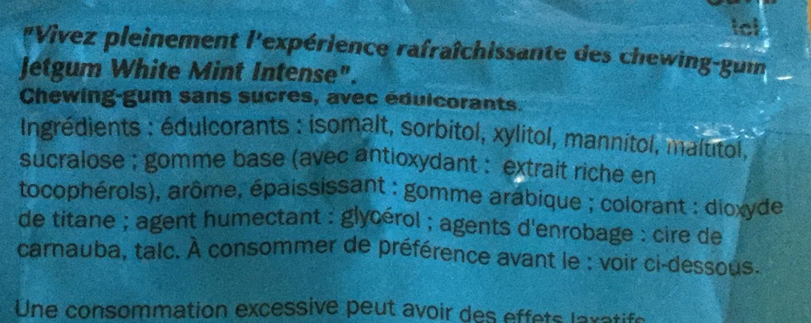 Jetgum - Ingrédients - fr