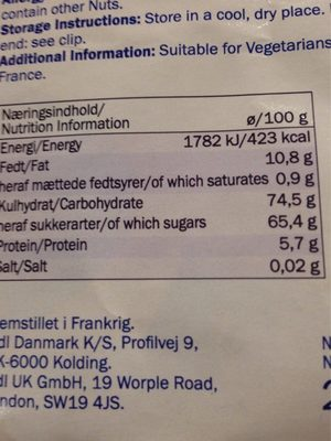 Weißer Nougat - Nutrition facts - de