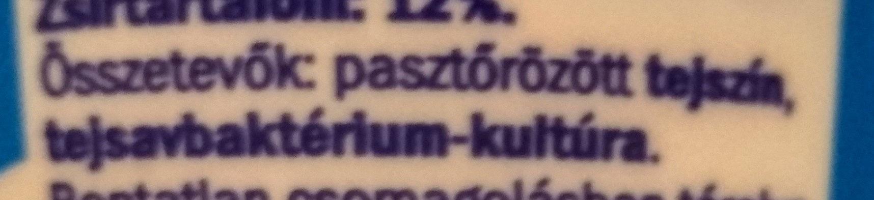 Pilos Tejföl 12% - Ingrédients