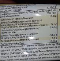 Bizcocho de limón - Informations nutritionnelles - fr