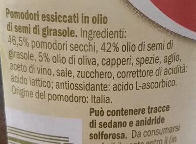 Pomodori secchi sott'olio - Ingredients