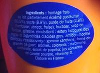 Mousse au fromage frais - Ingrédients