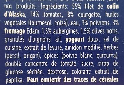 Filet de colin d'Alaska à la Provençale - Ingrédients - fr