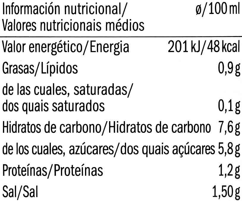 Salsa de Tomate Napoletana Bio - Voedingswaarden - es