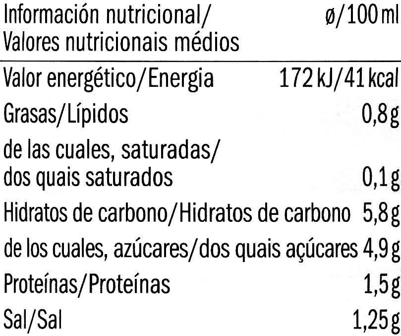 Salsa de Tomate Arrabbiata - Voedingswaarden