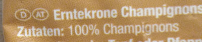 CHAMPIGNONS - Ingredients