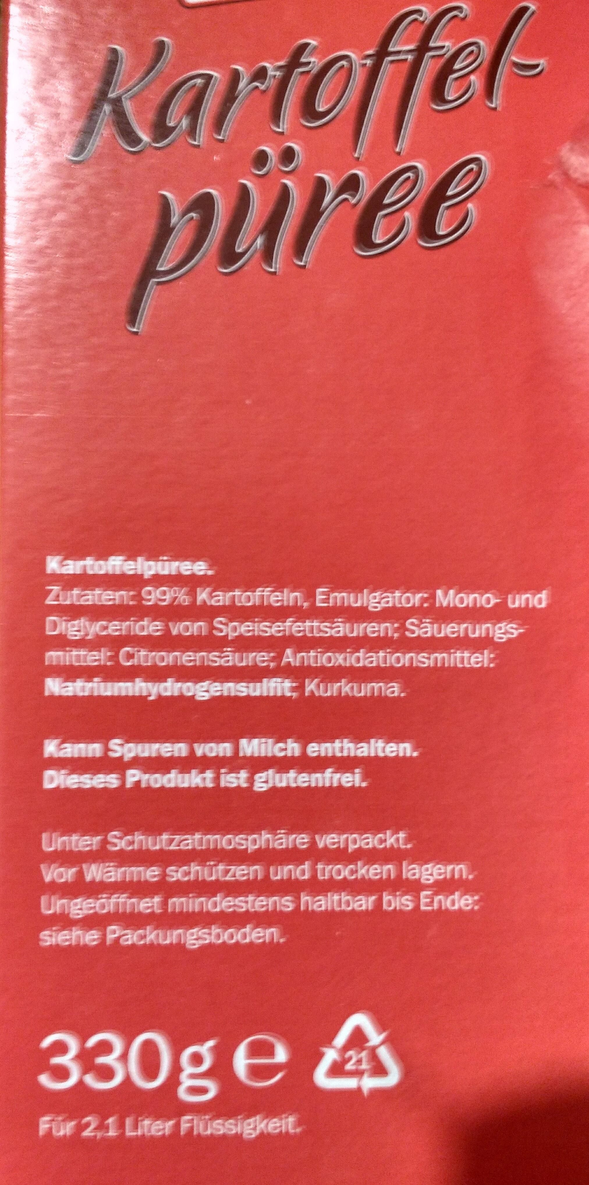 Deutsches Kartoffelpüree - Ingrediënten