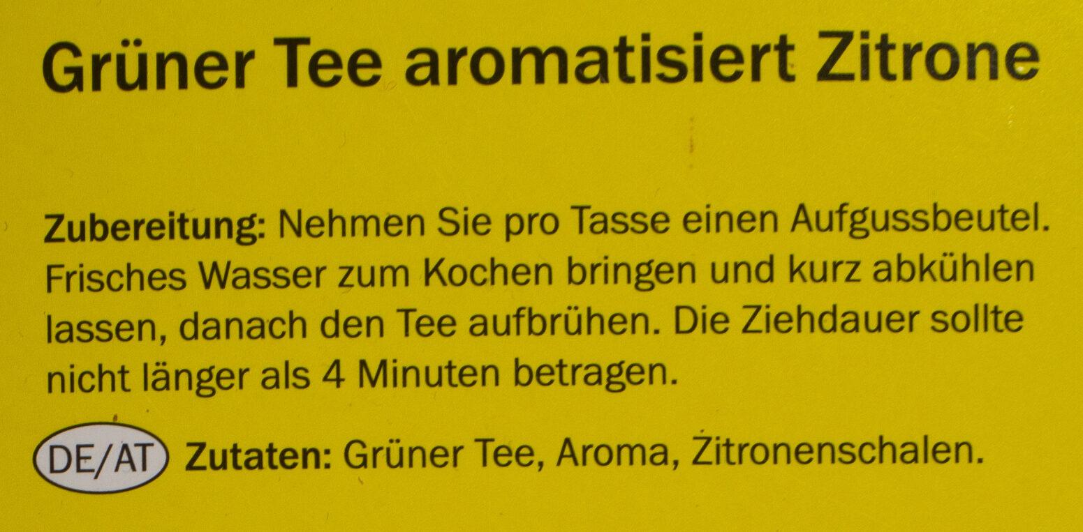 Grüner Tee Zitrone - Ingredients - de