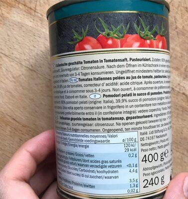Pomodori pelati - Ingrediënten - fr