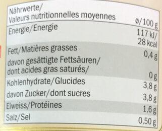 Sauce tomate avec basilic - Nutrition facts - fr