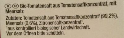 Bio-Tomatensaft - Ingredients