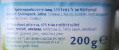 Kräuterquark - Ingredients