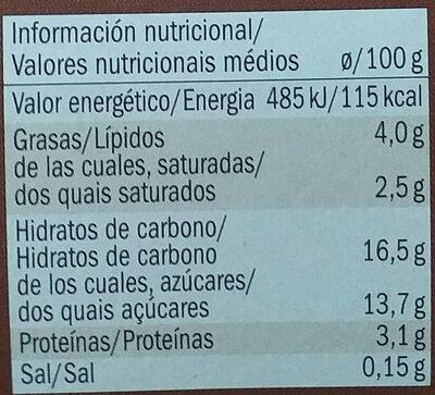 Copa de chocolate y nata - Voedingswaarden - fr