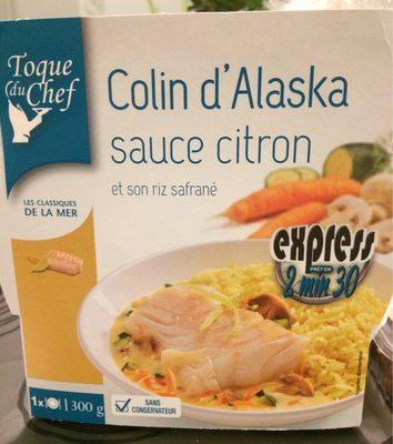Colin d Alaska sauce citron & son riz safrané - Produit - fr