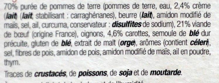 Hachis Parmentier - Ingrediënten