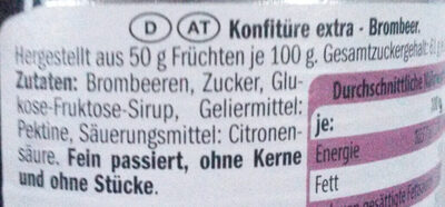 Konfitüre extra - Brombeer - Ingredients - de