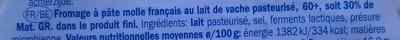Petit Brie (30 % MG) - Ingrediënten - fr