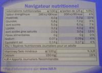 Brassé Nature - Informations nutritionnelles