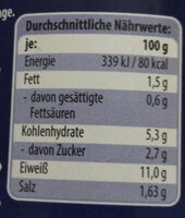Thunfischstücke in pikanter Sauce - Voedingswaarden