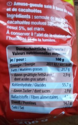 Pfiff Erdnuss Flips - Informations nutritionnelles - fr
