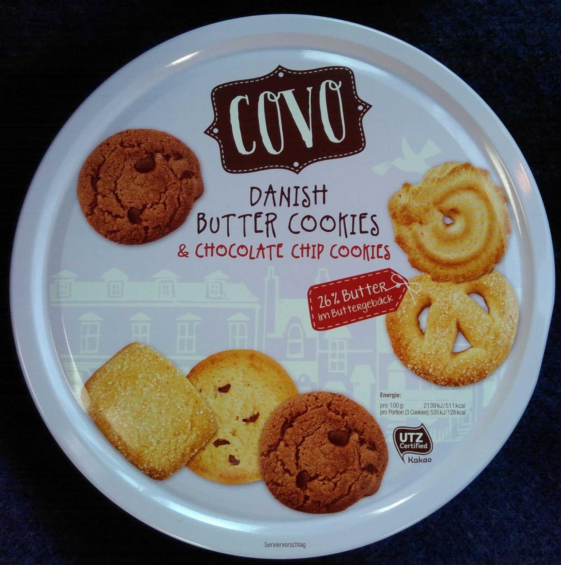 Danish Butter Cookies & Chocolate Chip Cookies - Produkt - de
