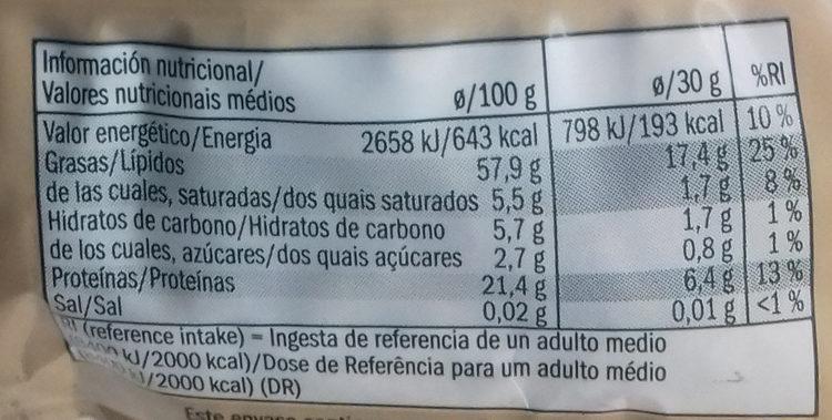 Sonnenblumenkerne - Información nutricional - es