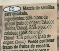"Salat Mix ""ganze Kerne"" - Ingrédients - fr"