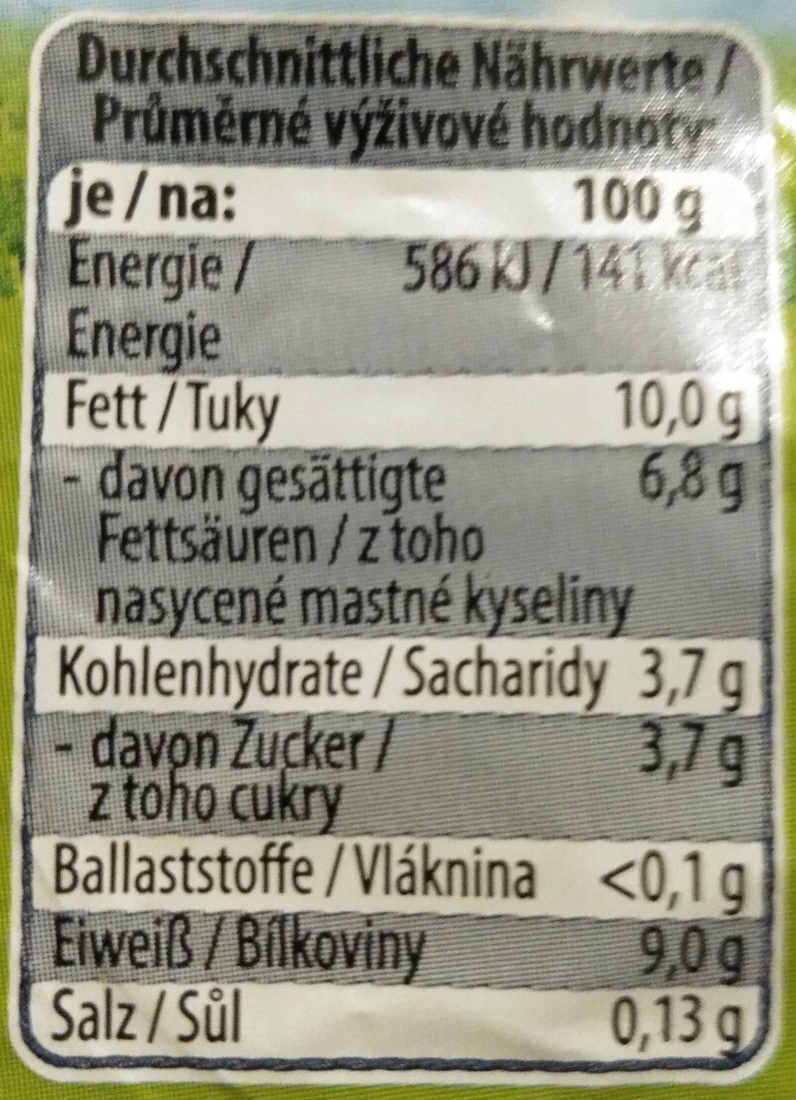 Quark 40% Fett - Nutrition facts
