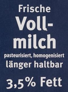 Frische Vollmilch - Ingrediënten